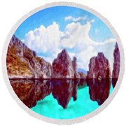 Honah Lee Round Beach Towel