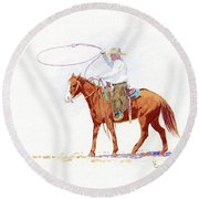 Honed In Round Beach Towel