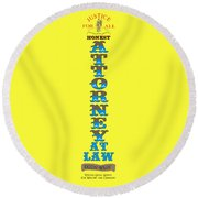 Honest Attorney At Law Round Beach Towel