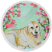 Honey Flowers Everyday Round Beach Towel