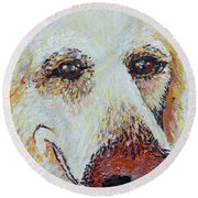 Honey Love Round Beach Towel