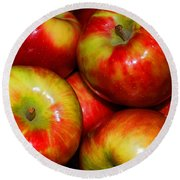 Honeycrisp Apples Round Beach Towel