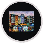 Honfleur - Normandie Round Beach Towel