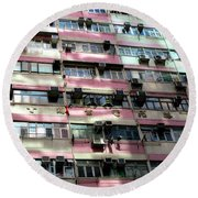 Hong Kong Apartment 18 Round Beach Towel