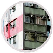 Hong Kong Apartment 3 Round Beach Towel