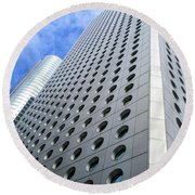 Hong Kong Architecture 38 Round Beach Towel