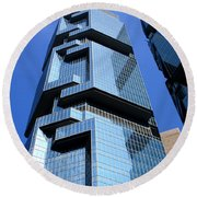 Hong Kong Architecture 69 Round Beach Towel