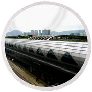 Hong Kong Cruise Terminal 2 Round Beach Towel