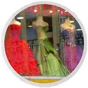 Hong Kong Dress Shop Round Beach Towel