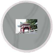 Hong Kong Temple Round Beach Towel