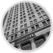Honigman Fashion - Downtown Detroit Round Beach Towel