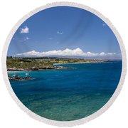 Honolua Bay Round Beach Towel by Jim Thompson