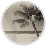 Honolulu Beach Round Beach Towel