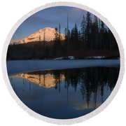 Hood Alpenglow Round Beach Towel