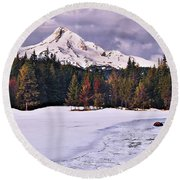 Hood On Ice Round Beach Towel