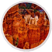 Hoodoos Bryce Canyon Round Beach Towel