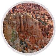 Hoodoos Bryce Canyon-utah Round Beach Towel