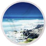 Hookipa Blue Sensation Round Beach Towel