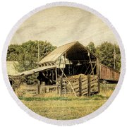 Hooper Hay Shed Round Beach Towel by David King