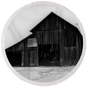 Hoops At The Barn Round Beach Towel