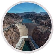 Hoover Dam Round Beach Towel