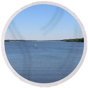 Hoover Dam Westerville Ohio 17 Round Beach Towel