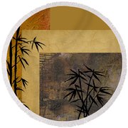 Hope And Bamboo Round Beach Towel