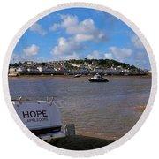 Hope Appledore Devon Round Beach Towel