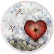 Hope Floats Round Beach Towel