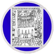 Hope On The Table Round Beach Towel