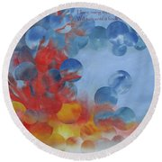 Hope Rising - With Poem Round Beach Towel
