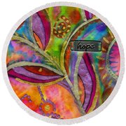 Hope Springs Anew Round Beach Towel