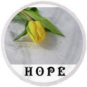 Hope Round Beach Towel
