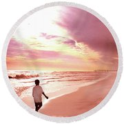 Hope's Horizon Round Beach Towel
