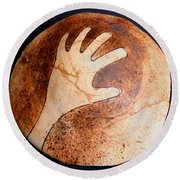 Hopi Jar Fragment Round Beach Towel