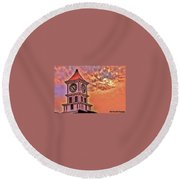 Hoptown Time Round Beach Towel
