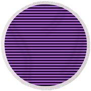 Horizontal Black Inside Stripes 30-p0169 Round Beach Towel