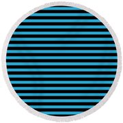 Horizontal Black Outside Stripes 18-p0169 Round Beach Towel