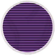 Horizontal Black Outside Stripes 30-p0169 Round Beach Towel