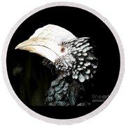 Hornbill Bird Round Beach Towel