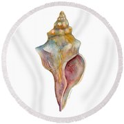 Horse Conch Shell Round Beach Towel