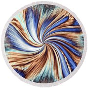 Horse Feathers Round Beach Towel