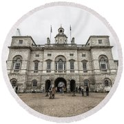 Horse Guards Round Beach Towel