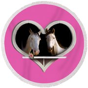 Horse Lovers Round Beach Towel