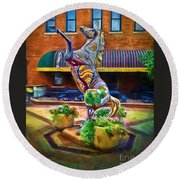 Horse Of Another Color Round Beach Towel by Jon Burch Photography
