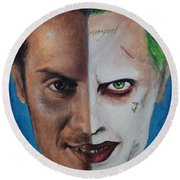 Moriarty And The Joker Round Beach Towel