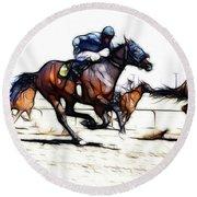 Horse Racing Dreams 1 Round Beach Towel