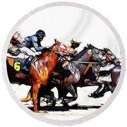 Horse Racing Dreams 3 Round Beach Towel