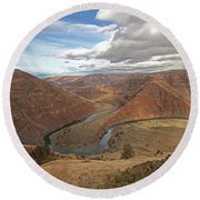 Horse Shoe Bend Round Beach Towel