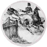 Horseback Riders, C1840 Round Beach Towel